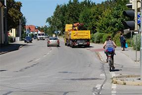 Radwege-Umgestaltung Augsburger Straße