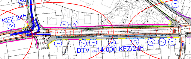 Radwegplanung FFB Augsburgerstraße