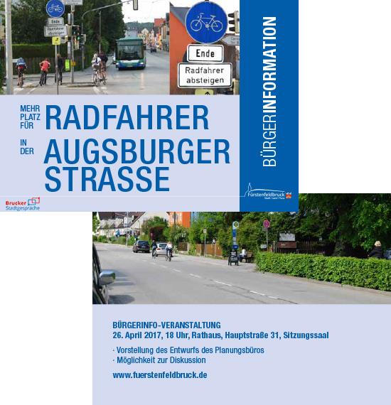 Radwegumgestaltung Augsburgerstr Bürgerinfo