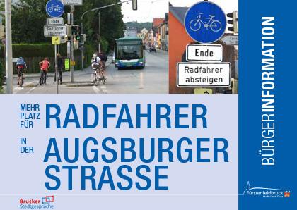 Plakat Einladung Bürgerinfo Radwege Augsburger Strasse